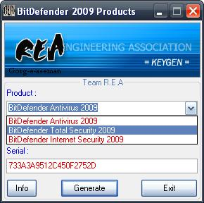BitDefender Products 2009 Key Generator